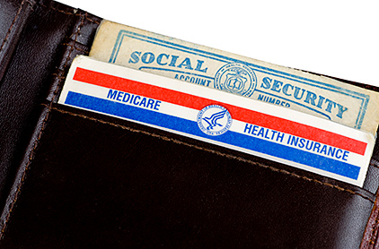 Photo of U.S. Medicare and Social Security Cards