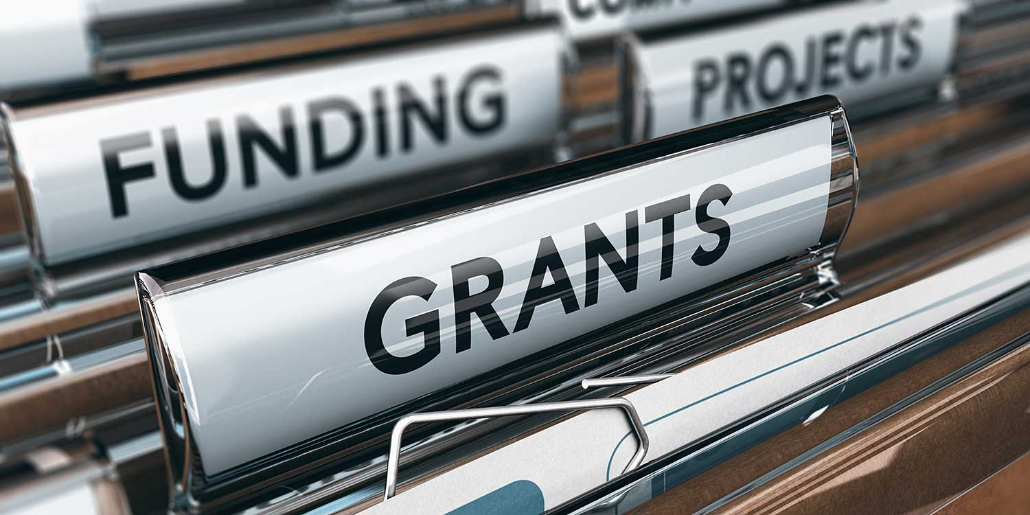 Photo of folder labeled grants