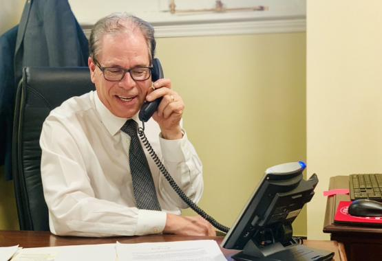 Senator Mike Braun Answering Constituent Phone Calls