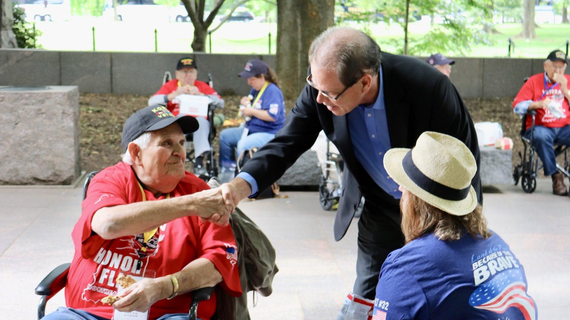 Senator Mike Braun Meeting with Veteran Constituents